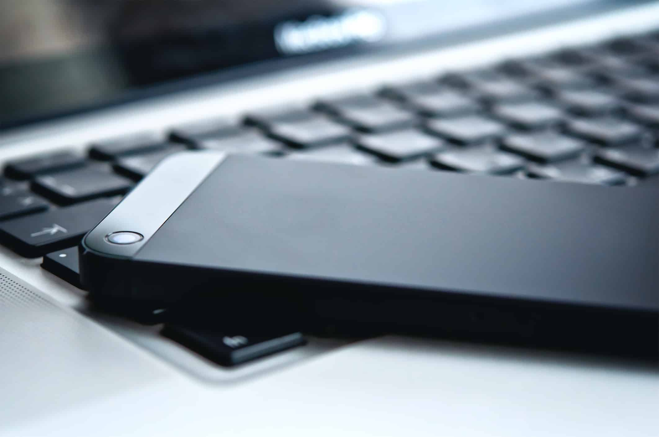 laptop and phone image
